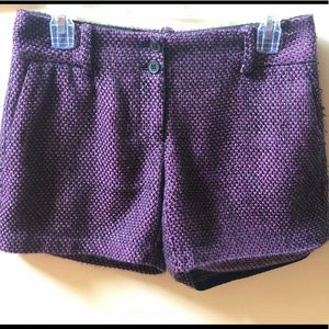 The Limited Drew Fit shorts. Purple/black
